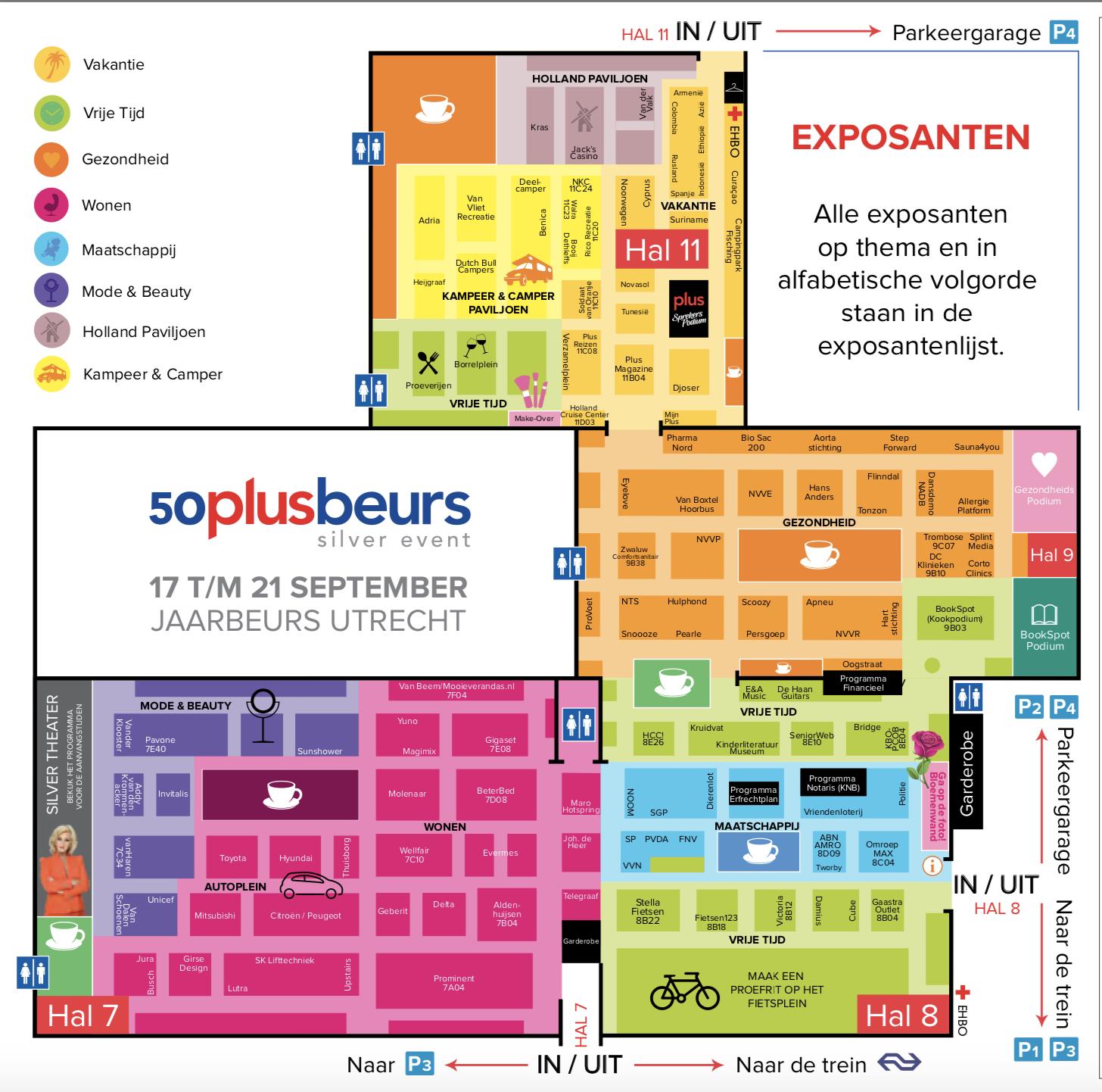 Plattegrond 50plusbeurs Utrecht